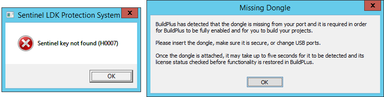 Buildplus missing dongle.PNG